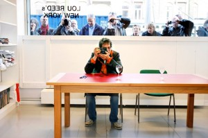 Lou Reed opens his photo exhibition entitled 'Lou Reed's New York' at gallery Serieuze Zaken Studios in Amsterdam on October 11th, 2007.